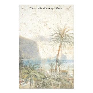 Capri Islands Palm Trees Houses Italy Stationery