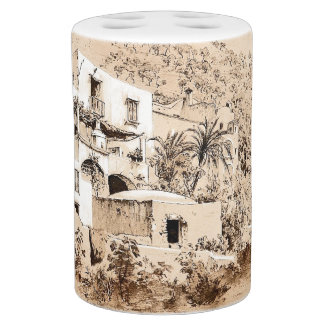Capri Italy Adobe Houses Island Bath Set