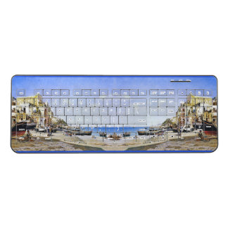Capri Italy Beach Town Boats Wireless Keyboard