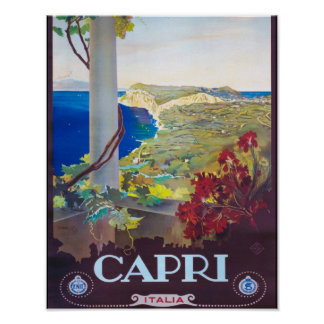 Capri Italy Beautiful View Poster
