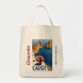 Capri Italy Grocery Tote
