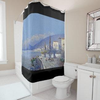 Capri Italy Houses Flowers Island Shower Curtain