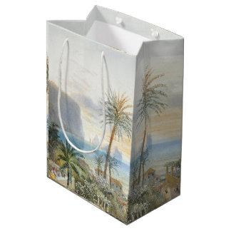 Capri Italy Islands Ocean Palm Trees Sea Gift Bag