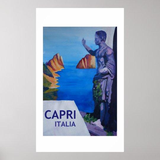 Capri Italy  -  Retro Style Poster
