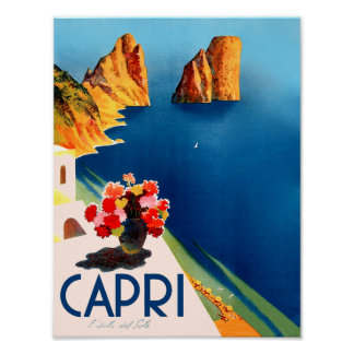 Capri, Italy travel poster