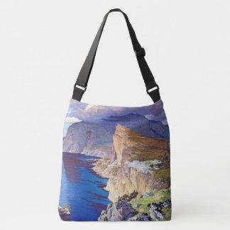 Capri Italy Villa Ocean Sea Shoulder Tote Bag
