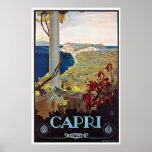 Capri, Italy Vintage Travel Poster