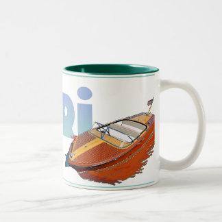 Capri Powerboat Two-Tone Coffee Mug