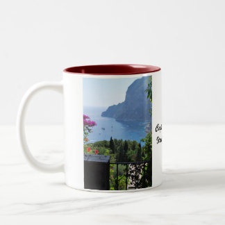 Capri scenery Two-Tone coffee mug