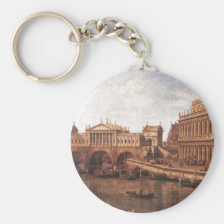 Capriccio: a Palladian Design for the Rialto Basic Round Button Keychain