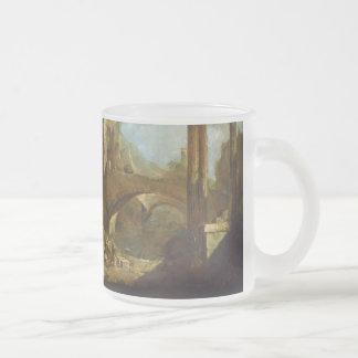 Capriccio of a Harbor Frosted Glass Mug