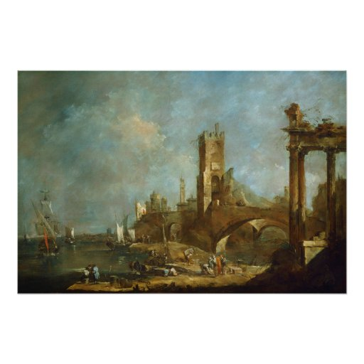 Capriccio of a Harbour Poster