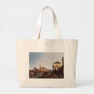 Capriccio with Venetian Motifs by Canaletto Jumbo Tote Bag