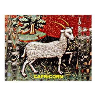 Capricorn 15th Century Art Postcard