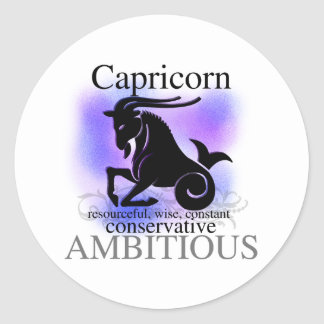 Capricorn About You Classic Round Sticker