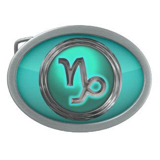 Capricorn Astrological Sign Oval Belt Buckles