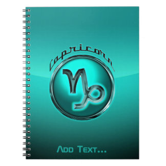 Capricorn Astrological Sign Spiral Notebook