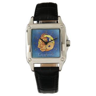 Capricorn blue yellow watches