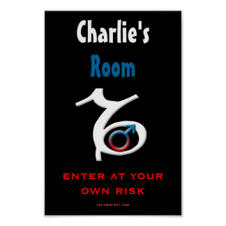 Capricorn Boy's Room Personalized Poster