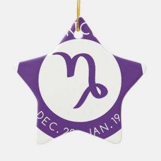 Capricorn Ceramic Ornament