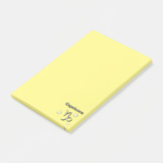 Capricorn chrome symbol post-it notes