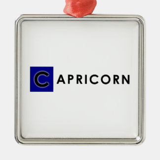 CAPRICORN COLOR Silver-Colored SQUARE ORNAMENT