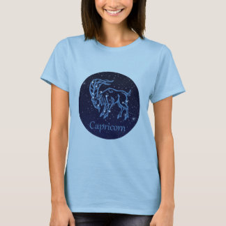 Capricorn Constellation and Zodiac Sign with Stars T-Shirt