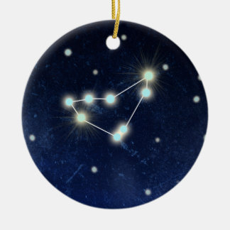 Capricorn Constellation | Custom Name Round Ceramic Ornament