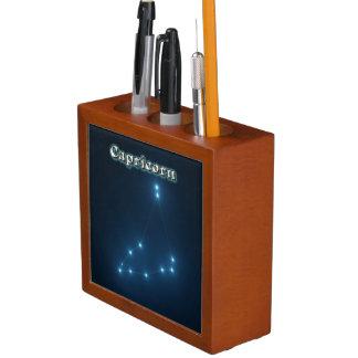 Capricorn constellation desk organizer