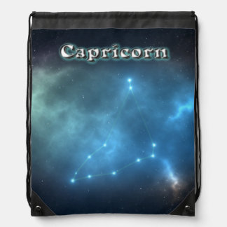 Capricorn constellation drawstring bag