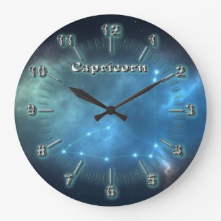 Capricorn constellation large clock
