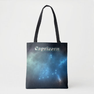 Capricorn constellation tote bag