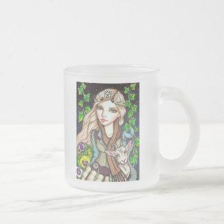 Capricorn Frosted Glass Coffee Mug