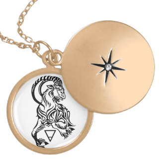 capricorn gold plated necklace
