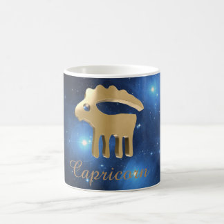 Capricorn golden sign coffee mug