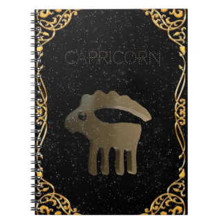 Capricorn golden sign notebooks