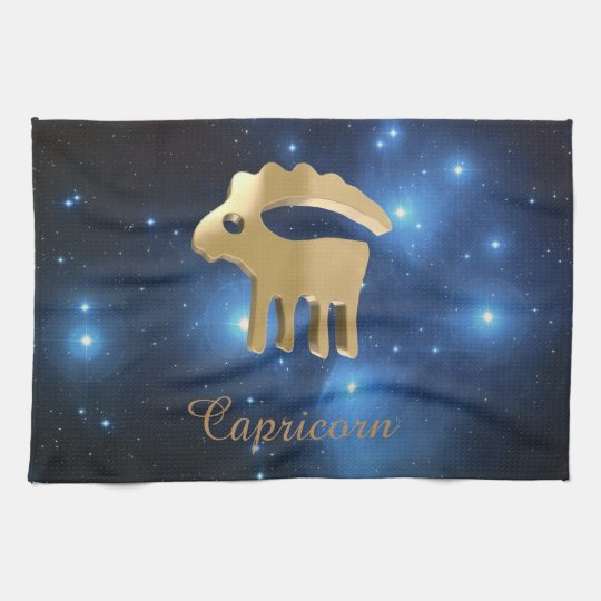 Capricorn golden sign towels