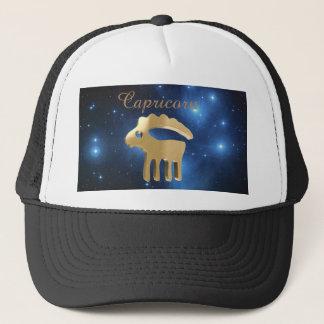 Capricorn golden sign trucker hat