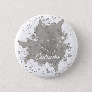 Capricorn Gray Keychain 2 Inch Round Button