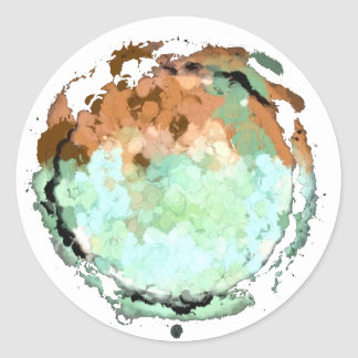 Capricorn Green Brown Moon Sticker