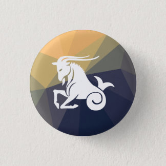 Capricorn horoscope astrology round button