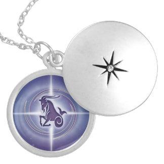 Capricorn Horoscope Lavender HLRX Locket Necklace