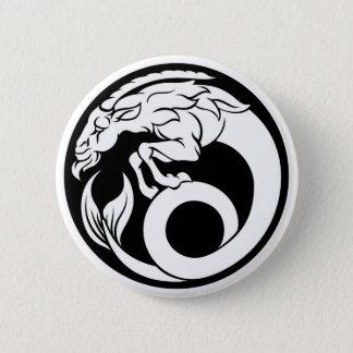 Capricorn Horoscope Zodiac Sign 2 Inch Round Button
