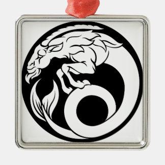 Capricorn Horoscope Zodiac Sign Metal Ornament