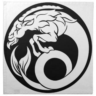 Capricorn Horoscope Zodiac Sign Napkin