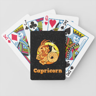 Capricorn illustration bicycle playing cards