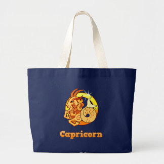 Capricorn illustration large tote bag