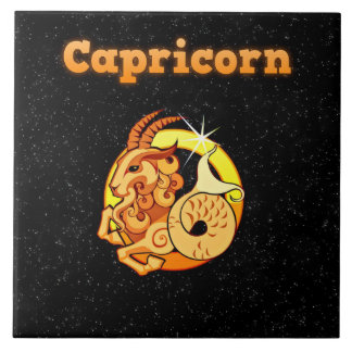 Capricorn illustration tile