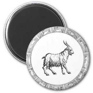 Capricorn in a Zodiac Ring Magnet