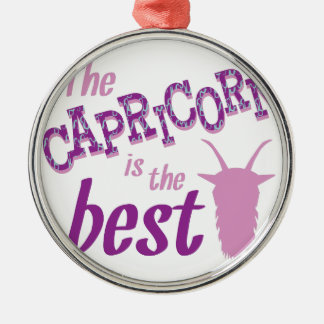 Capricorn Is Best Silver-Colored Round Ornament